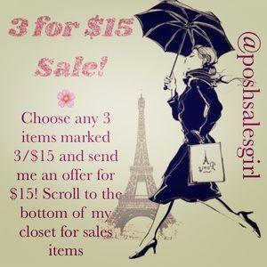Accessories - 3/$15 🌸 SALE!